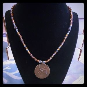 Beautiful hand made dragonfly necklace